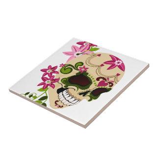 Sugar Skull [Día de Muertos] Ceramic Tile