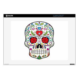 "Sugar Skull Dia Des Los Muertos Styled Products 15"" Laptop Skins"