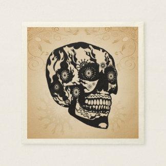 Sugar skull disposable napkins