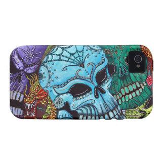 Sugar Skull Dragon Art Case-Mate iPhone 4 Covers