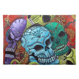 Sugar Skull Dragon Art Place Mat
