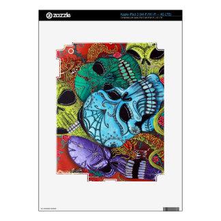 Sugar Skull Dragon Art Skins For iPad 3