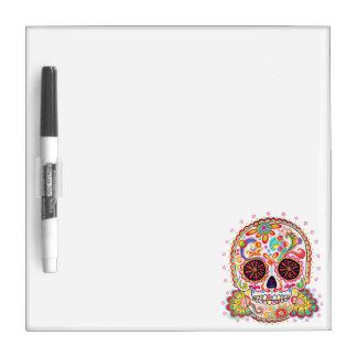 Sugar Skull Dry Erase Board