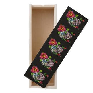 SUGAR SKULL & FLOWER WOODEN KEEPSAKE BOX