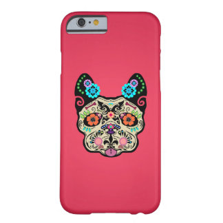 Sugar Skull Frenchie - Pink Barely There iPhone 6 Case