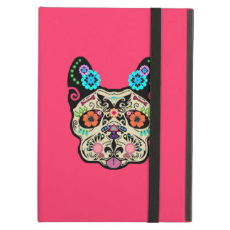 Sugar Skull Frenchie - Pink iPad Air Cover