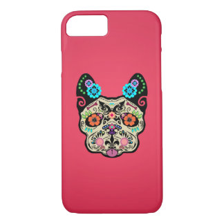 Sugar Skull Frenchie - Pink iPhone 7 Case