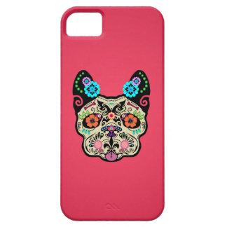 Sugar Skull Frenchie - Pink iPhone SE/5/5s Case