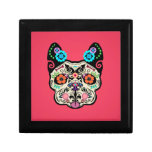 Sugar Skull Frenchie - Pink Keepsake Box