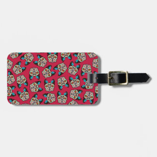 Sugar Skull Frenchie - Pink Tag For Luggage