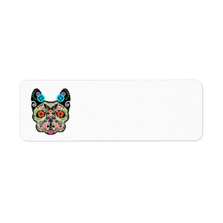 Sugar Skull Frenchie Return Address Label