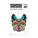 Sugar Skull Frenchie Stamps