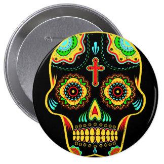 Sugar skull full color pinback button