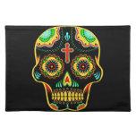 Sugar skull full color cloth placemat