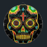 "Sugar skull full color dart board<br><div class=""desc"">Hello this fresh and cool design represents a sugar skull full of colors  Choose the background color you want by clicking Customize it - Edit - Background.</div>"