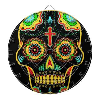 Sugar skull full color dartboard with darts