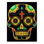 Sugar skull full color postcard