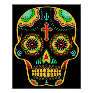 Sugar skull full color poster