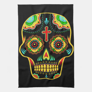 Sugar skull full color towel
