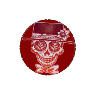 Sugar Skull Gentleman Candy Tin - Day of the Dead