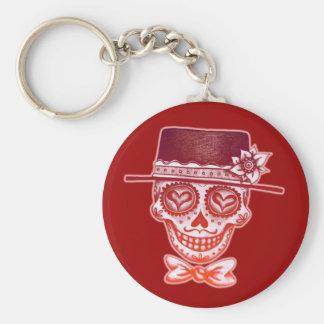 Sugar Skull Gentleman Keychain