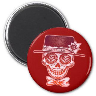 Sugar Skull Gentleman Magnet