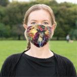 Sugar Skull Girl Art by Molly Harrison Adult Cloth Face Mask