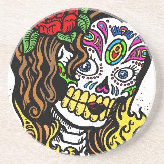Sugar Skull Girl Drink Coaster