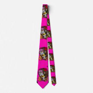 sugar skull girl neck tie