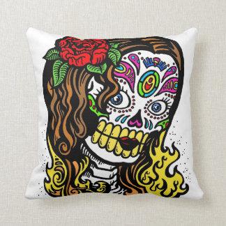 Sugar Skull Girl Pillow