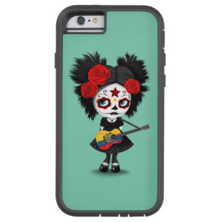 Sugar Skull Girl Playing Ecuadorian Flag Guitar Tough Xtreme iPhone 6 Case