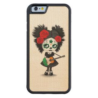 Sugar Skull Girl Playing Irish Flag Guitar Carved® Maple iPhone 6 Bumper