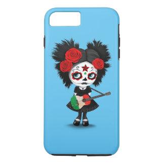 Sugar Skull Girl Playing Italian Flag Guitar iPhone 7 Plus Case