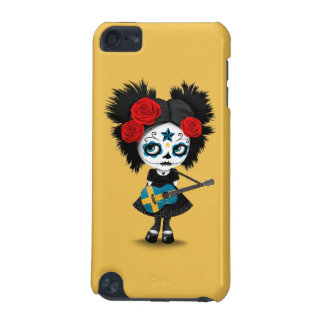 Sugar Skull Girl Playing Swedish Flag Guitar iPod Touch (5th Generation) Cover