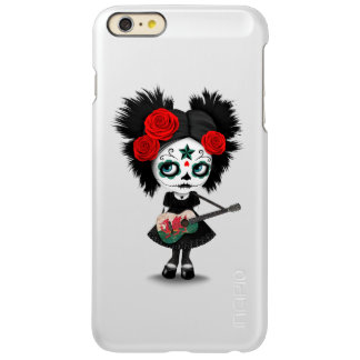 Sugar Skull Girl Playing Welsh Flag Guitar Incipio Feather Shine iPhone 6 Plus Case