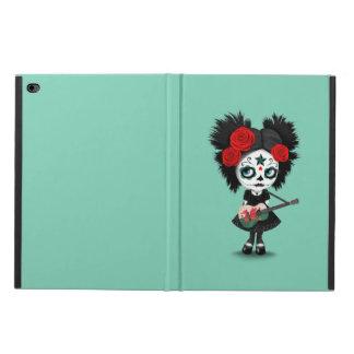 Sugar Skull Girl Playing Welsh Flag Guitar Powis iPad Air 2 Case