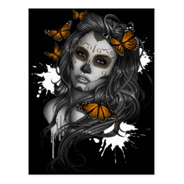 Sugar Skull Girl Postcard