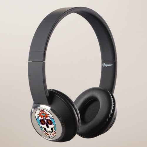 Sugar Skull Graphic Headphones