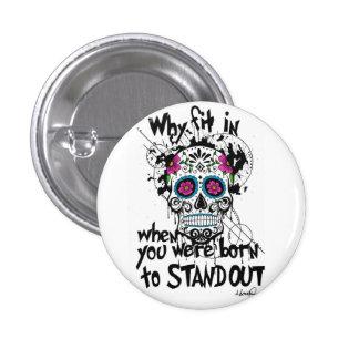 Sugar Skull & Graphics Pin Badge Button