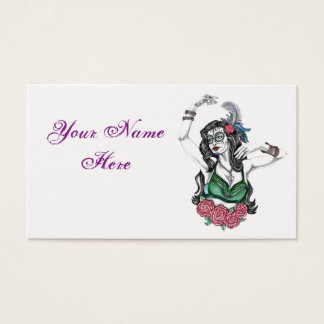 Sugar Skull Gypsy Business Card