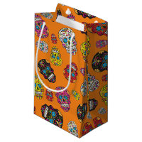 Sugar Skull Halloween Day of the Dead Print Small Gift Bag