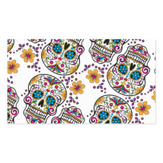 Sugar Skull Halloween White.png Business Card