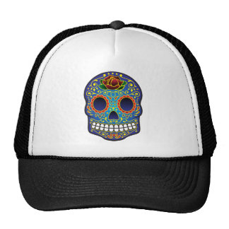 Sugar Skull Mesh Hat