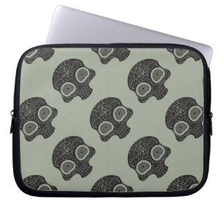 Sugar Skull Heart and Flower Laptop Sleeve