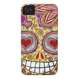 Sugar Skull Heart iPhone 4/4S Barely There Case