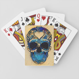 Sugar Skull - Heart Playing Cards