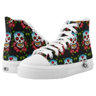 Sugar Skull High-Top Sneakers