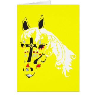 sugar skull horse card