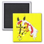 sugar skull horse refrigerator magnets