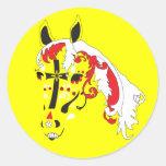 sugar skull horse sticker